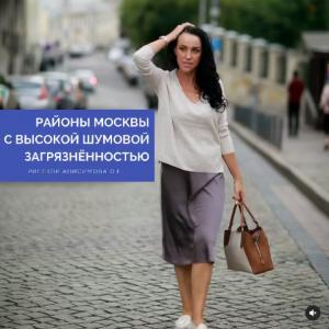 Районы Москвы с высокой шумовой загрязнённостью